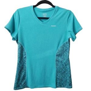 Reebok Athletic Short Sleeve Top Turquoise M